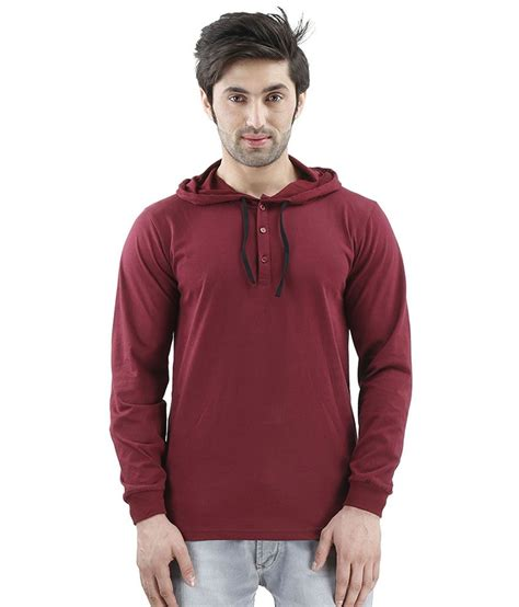 Hoodie Polos Maroon inkovy maroon hooded t shirts buy inkovy maroon hooded t shirts at low price snapdeal