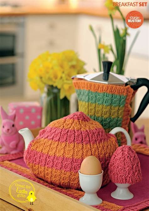 knitted tea set pattern free patterns from simply knitting cable breakfast set