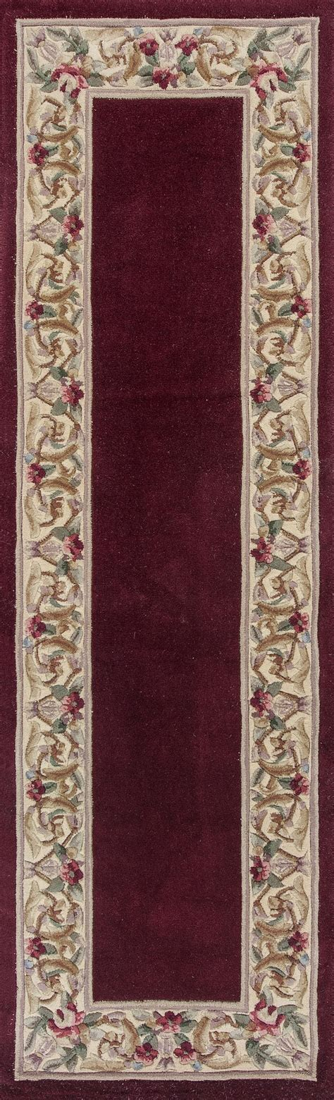 Area Rugs With Borders Kas Ruby 8979 Ruby Floral Border Area Rug Free Shipping
