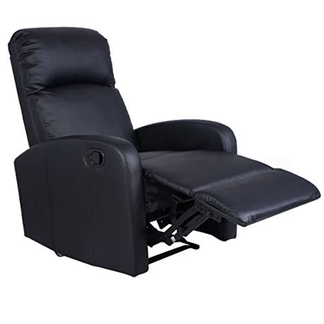 Black Leather Theater Recliner by Giantex Manual Recliner Chair Black Lounger Leather Sofa Seat Home Theater Home Theater