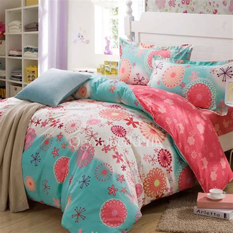 teenage girl comforter inexpensive blue cute patterned queen teen bedding sets