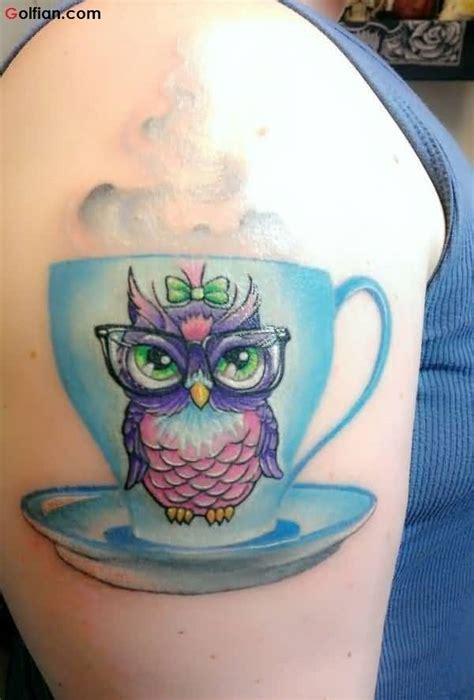 cartoon owl tattoo 60 most amazing animated owl tattoos designs stock