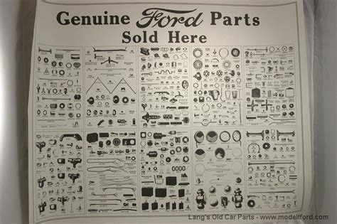 Model T Genuine Ford Parts Quot Poster A Post