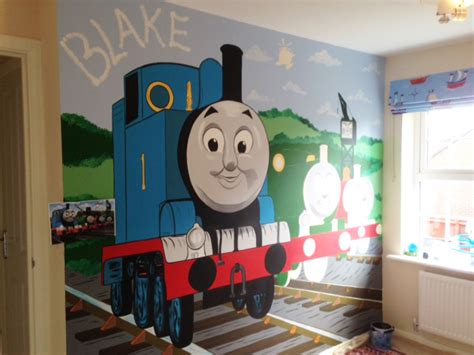Thomas The Tank Engine Wall Murals joanna perry top mural artist hand painting murals