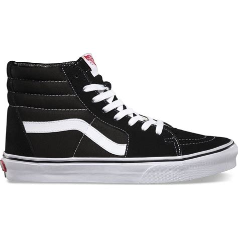 black and white high top sneakers vans sk8 hi pro shoes