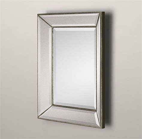 beaded frame mirror this generous scaled beveled mirror 17 best images about master bath on pinterest wall