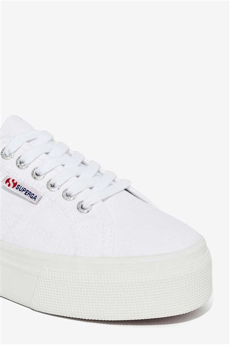 superga white platform sneakers superga up and platform sneaker white in white lyst