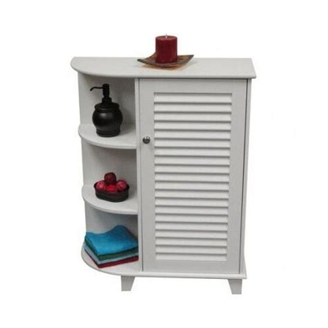 white floor cabinet small corner bathroom storage classic