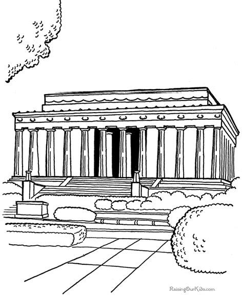the lincoln memorial coloring pages