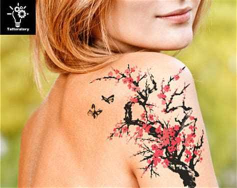 cherry blossom tattoo watercolor tattoo sakura tattoo