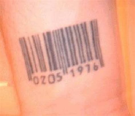 barcode tattoo wrist bar code wrist