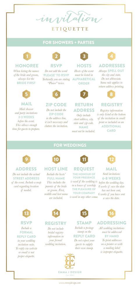 wedding invitation protocol designer emily mccarthy invitation etiquette