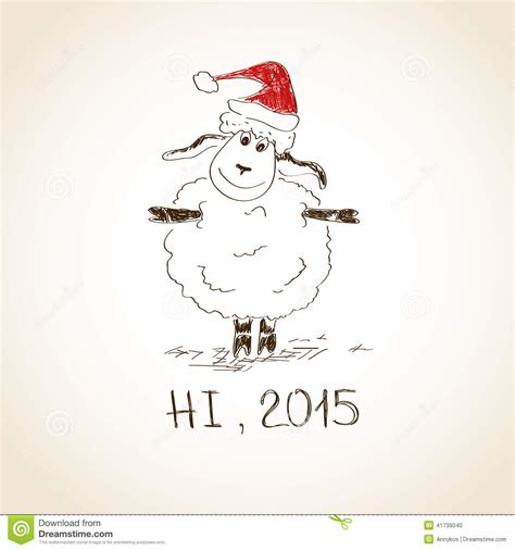 new year 2015 sheep images happy new year sheep 2015 stock vector image 41739040