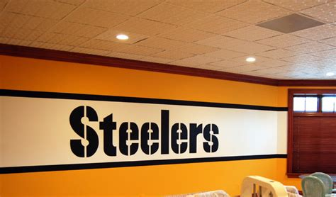 steelers bedroom ideas pittsburgh steelers 1970 s locker room mural by tom taylor