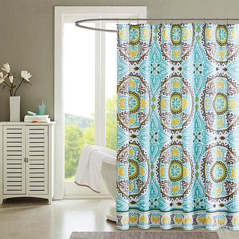 West Elm Medallion Shower Curtain Decor Samara Medallion Design Shower Curtain Aqua 72 Quot X 72 Quot 8171439 Hsn