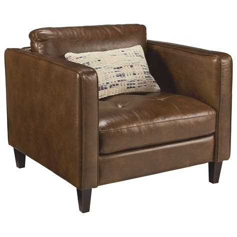 Upholstered Chair And Ottoman With Button Tufting By Upholstery Ottoman