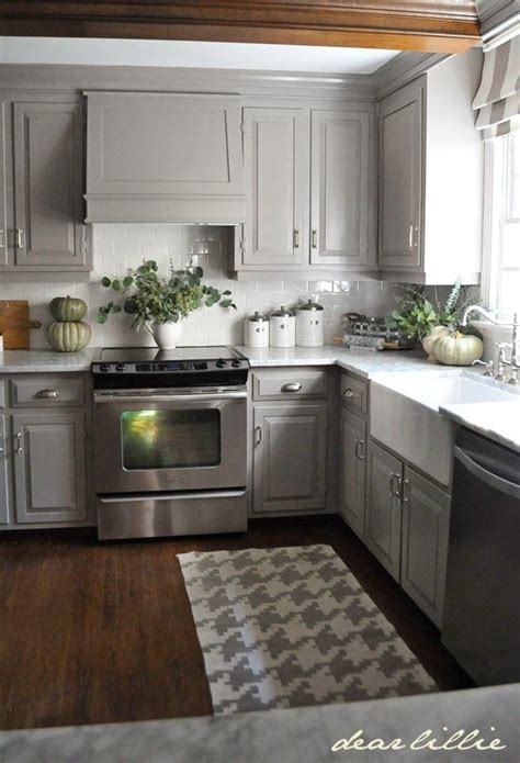 gray kitchen cabinets best 20 small kitchen makeovers ideas on
