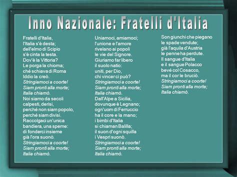 testo inno italia inno ditalia note
