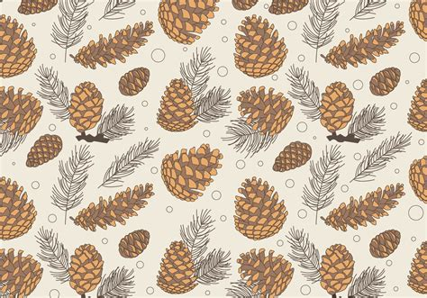 pine pattern stock pine cones pattern classic vector download free vector