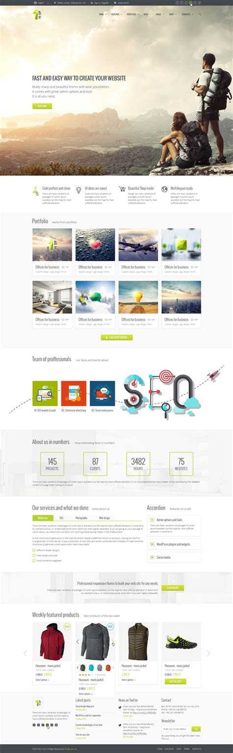 Html5 One Page Website Templates With Ui Ux Experience Design Graphic Design Junction Html5 Personal Website Template