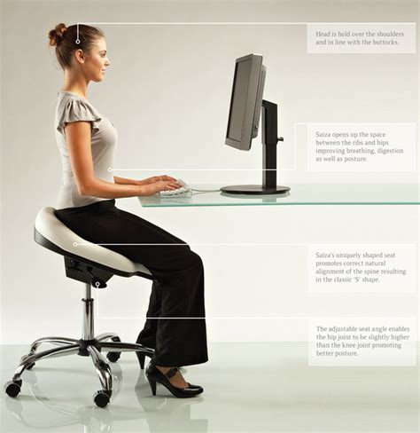 Office Desk Posture After The Ergonomically Designed Office Chair Healthy Ergonomic Office