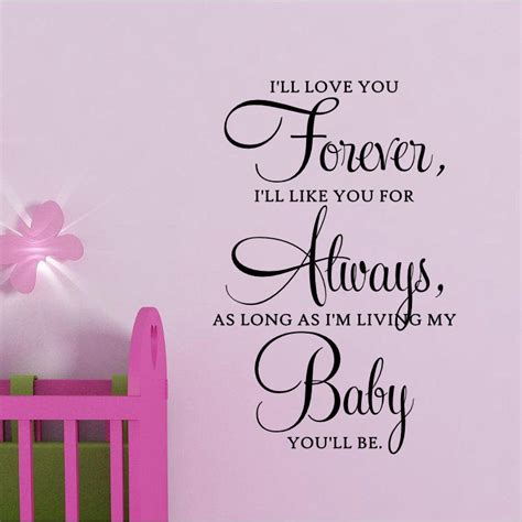 images of i love you forever i ll love you forever baby vinyl wall quote by spiffydecals