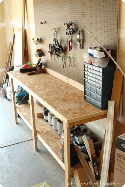Ideas For Workbench With Drawers Design 1000 Images About Garage On Pinterest The Family Handyman Garage Ideas And Workbench Plans