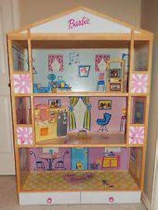 4 foot doll house pj kids wood frame barbie 3 story doll house 4 feet furniture in parkville letgo