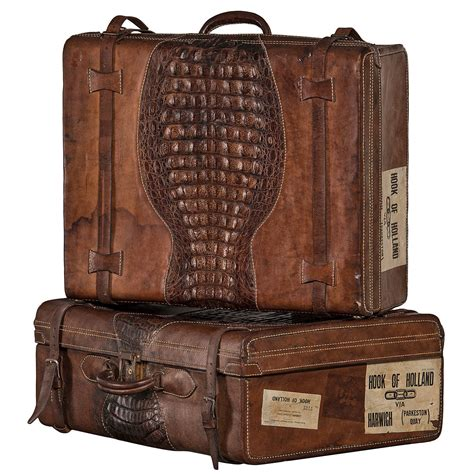 beautiful suitcases set of suitcases with beautiful patina uruguay 1920 1930