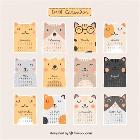 Vector Calendar 2018 Bonito Calendario 2018 Descargar Vectores Gratis