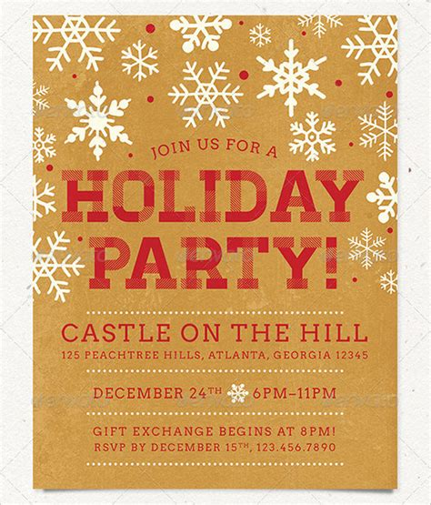 23 holiday party flyer templates psd designs free