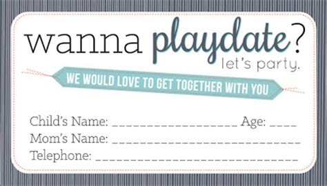 play date cards printable template sissyprint playdate calling cards
