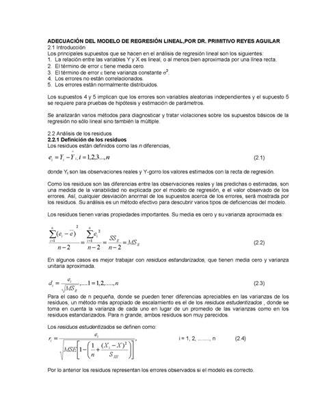 Definicion De Modelo Curricular Lineal adecuaci 243 n modelo de regresi 243 n lineal monografias