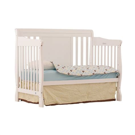 Convertible Cribs White Fixed Side 4 In 1 Convertible Crib In White 04587 481