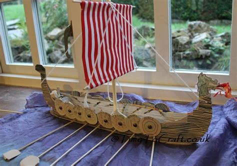 How To Make A Viking Longship Out Of Paper - model boat and oars omfg amazeballs crafts and