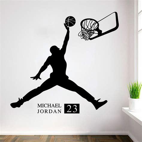 michael jordan bedroom decor michael jordan play basketball wall stickers home decors
