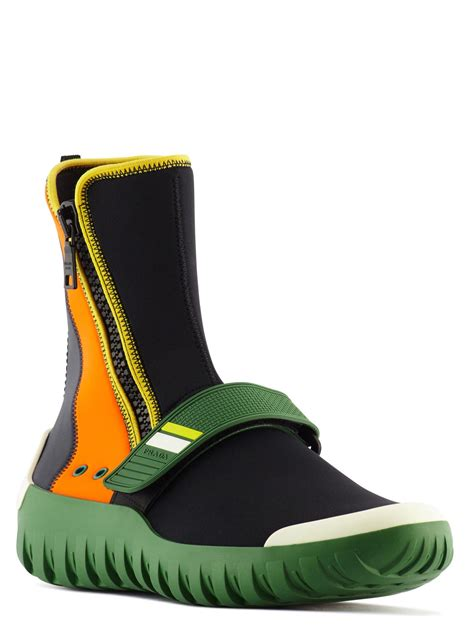 Top Baby Hb Green Shoes Green Pant Yellow Tb51bc9 prada two tone neoprene ankle boots for lyst