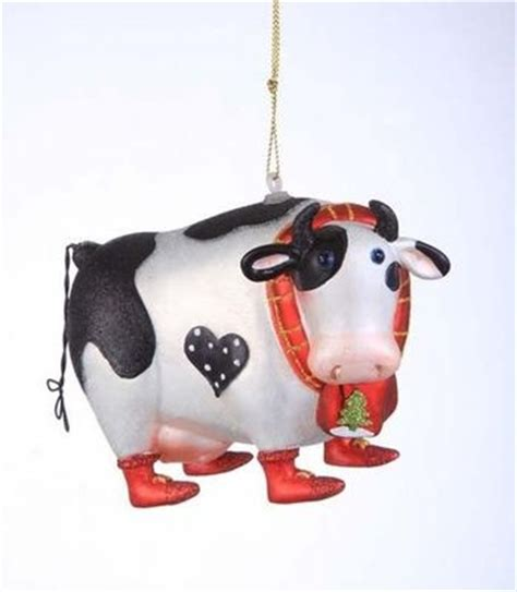 cute cow christmas ornament and the cow jumped over the