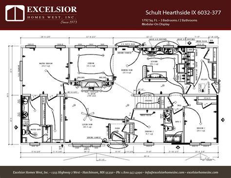 manufactured home floor plan 2008 schult hearthside schult hearthside ix excelsior homes west inc
