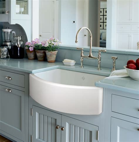 best kitchen sinks new rohl shaws waterside fireclay sink wins best kitchen