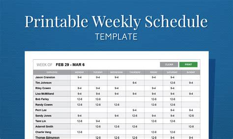 employee calendar template free printable weekly work schedule template for employee
