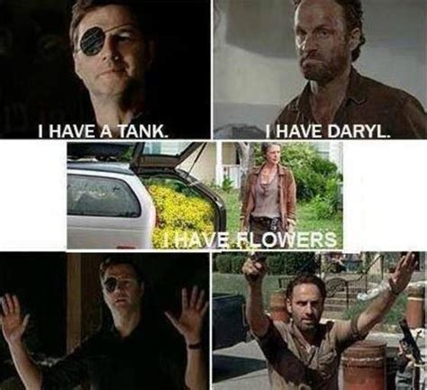 Look At The Flowers Meme - carol wins every time the walking dead