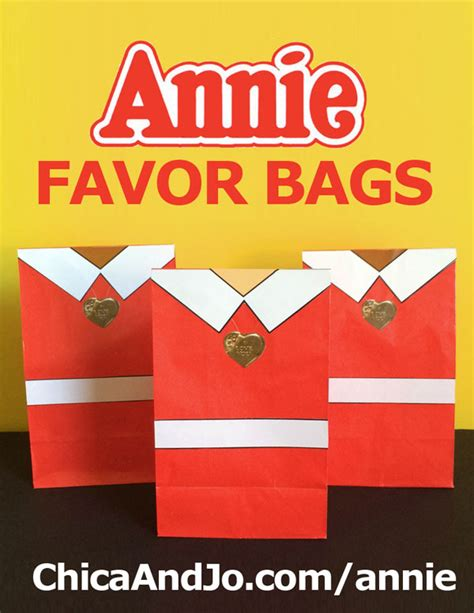 Annie Movie Party Favor Bags Chica And Jo