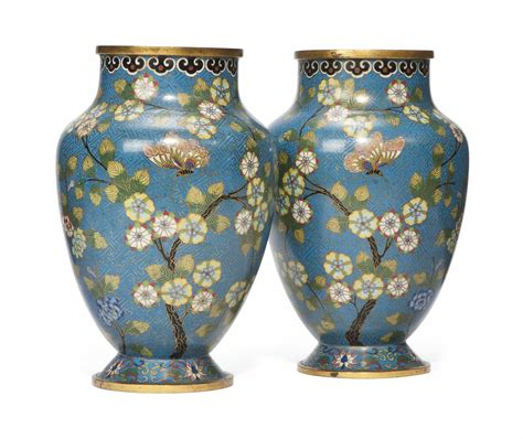 Cloisonne Enamel Vase by A Pair Of Cloisonn 201 Enamel Vases All Other