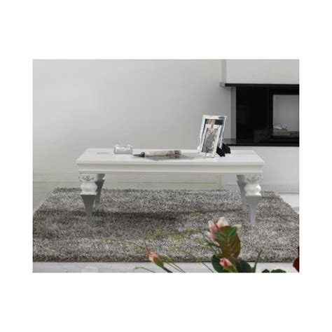 white and silver coffee table magnus white and silver leaf coffee table