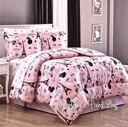 Paris Comforter Sets Paris Chic Eiffel Tower French Poodle Teen Girls Pink