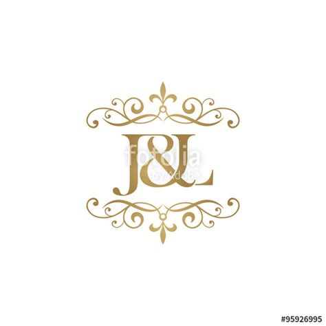 J L by Quot J L Initial Logo Ornament Ersand Monogram Golden Logo