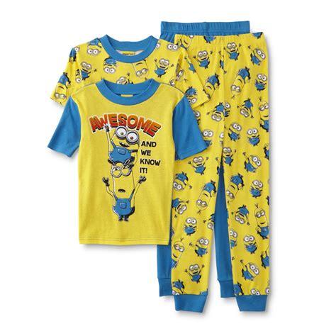 Pajamas Minion Pp universal studios minions boy s 2 pairs pajamas