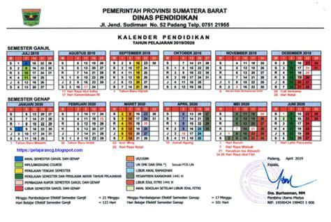 kalender pendidikan  ajaran  provinsi sumbar kurikulum pelajaran