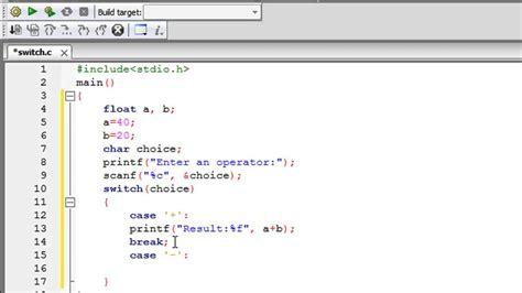 pattern making programs in c c programming tutorial 35 the switch statement